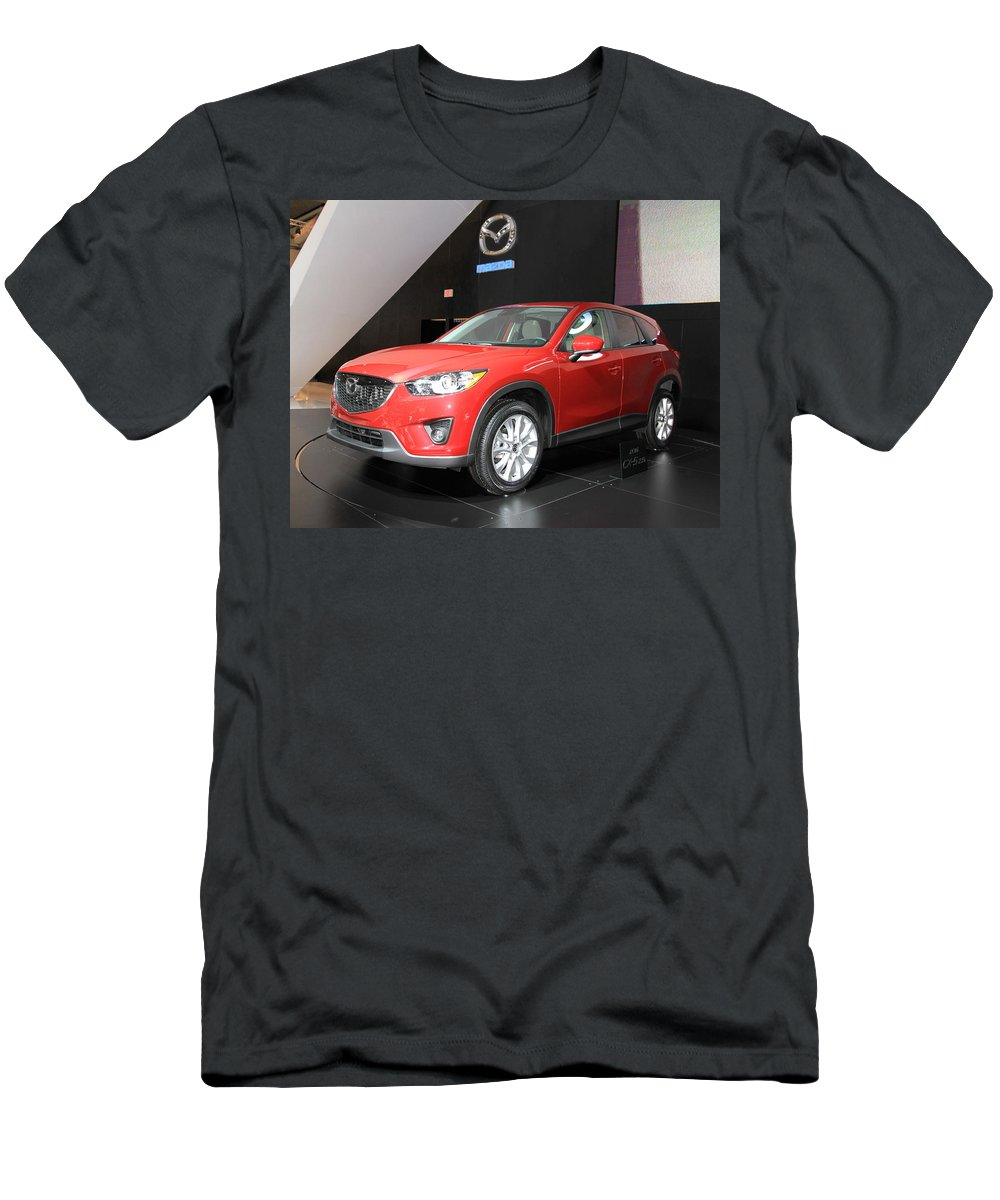 2013 Men's T-Shirt (Athletic Fit) featuring the photograph New Mazda Model by Valentino Visentini