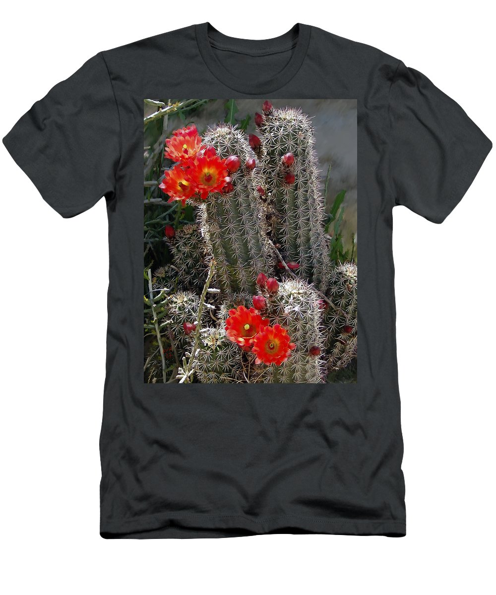 Cactus Men's T-Shirt (Athletic Fit) featuring the photograph New Mexico Cactus by Kurt Van Wagner