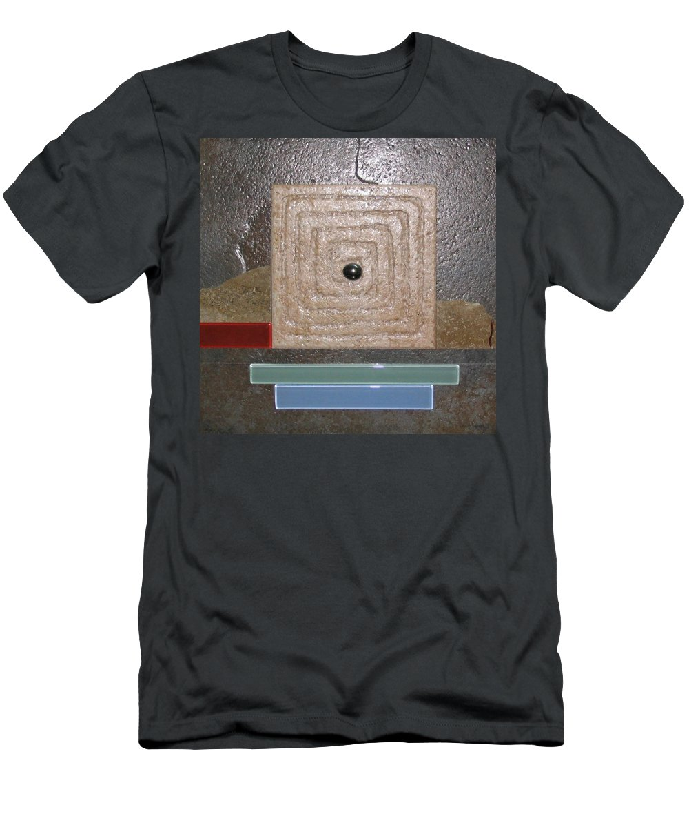 Assemblage Men's T-Shirt (Athletic Fit) featuring the relief New Moon by Elaine Booth-Kallweit
