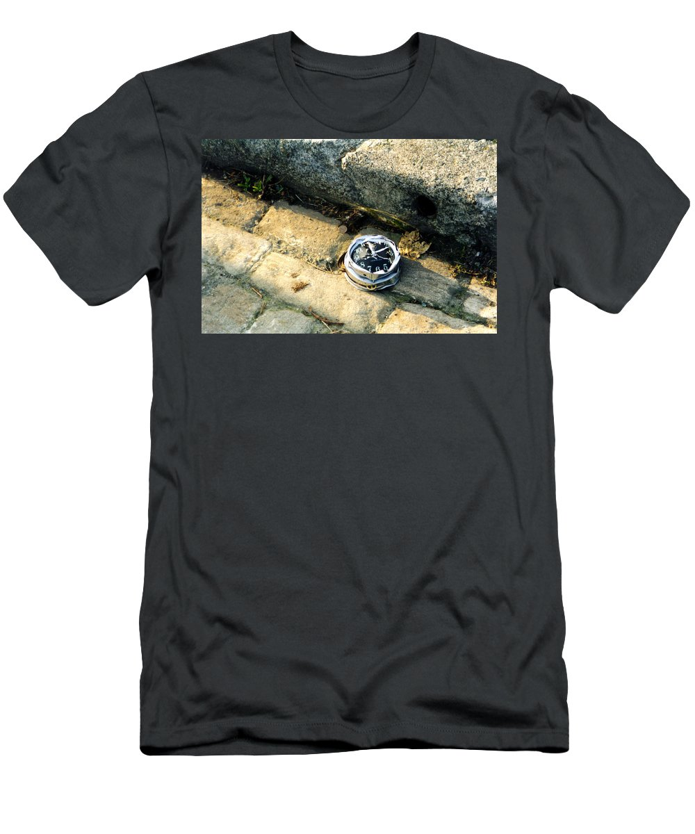 Broken Clock Men's T-Shirt (Athletic Fit) featuring the photograph New Years Day by Loren McNamara