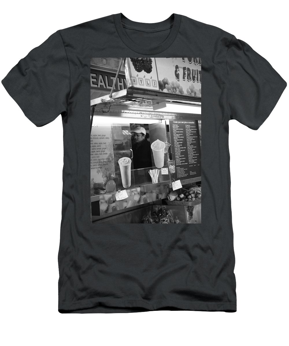 Alley Men's T-Shirt (Athletic Fit) featuring the photograph New York Street Photography 11 by Frank Romeo