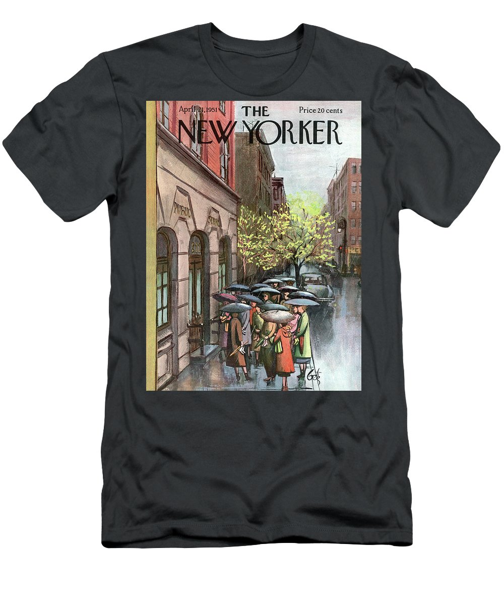 Urban T-Shirt featuring the painting New Yorker April 21st, 1951 by Arthur Getz