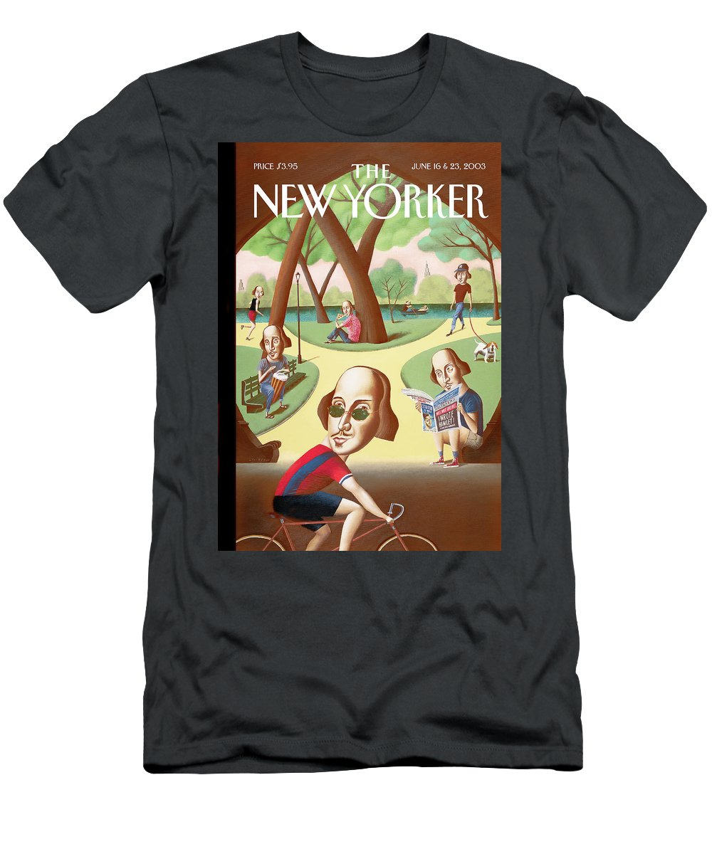 Mark Ulriksen Mul T-Shirt featuring the painting Shakespeares in the Park by Mark Ulriksen