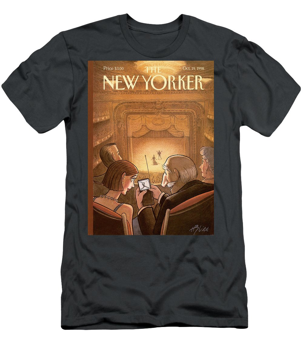 Doubleheader T-Shirt featuring the painting New Yorker October 19th, 1998 by Harry Bliss