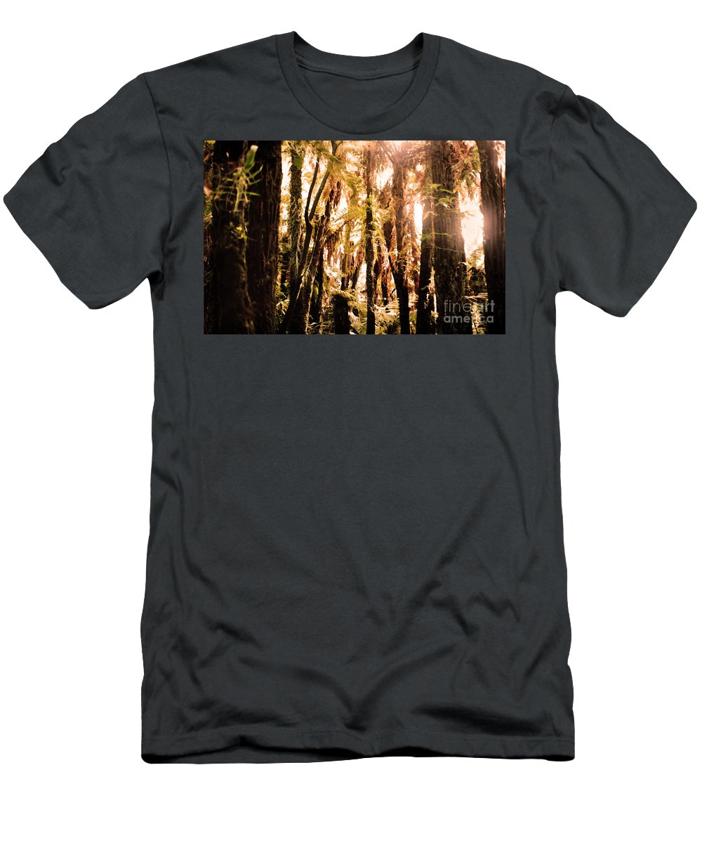 New Zealand Bush Men's T-Shirt (Athletic Fit) featuring the photograph New Zealand Bush by Lydia Holly