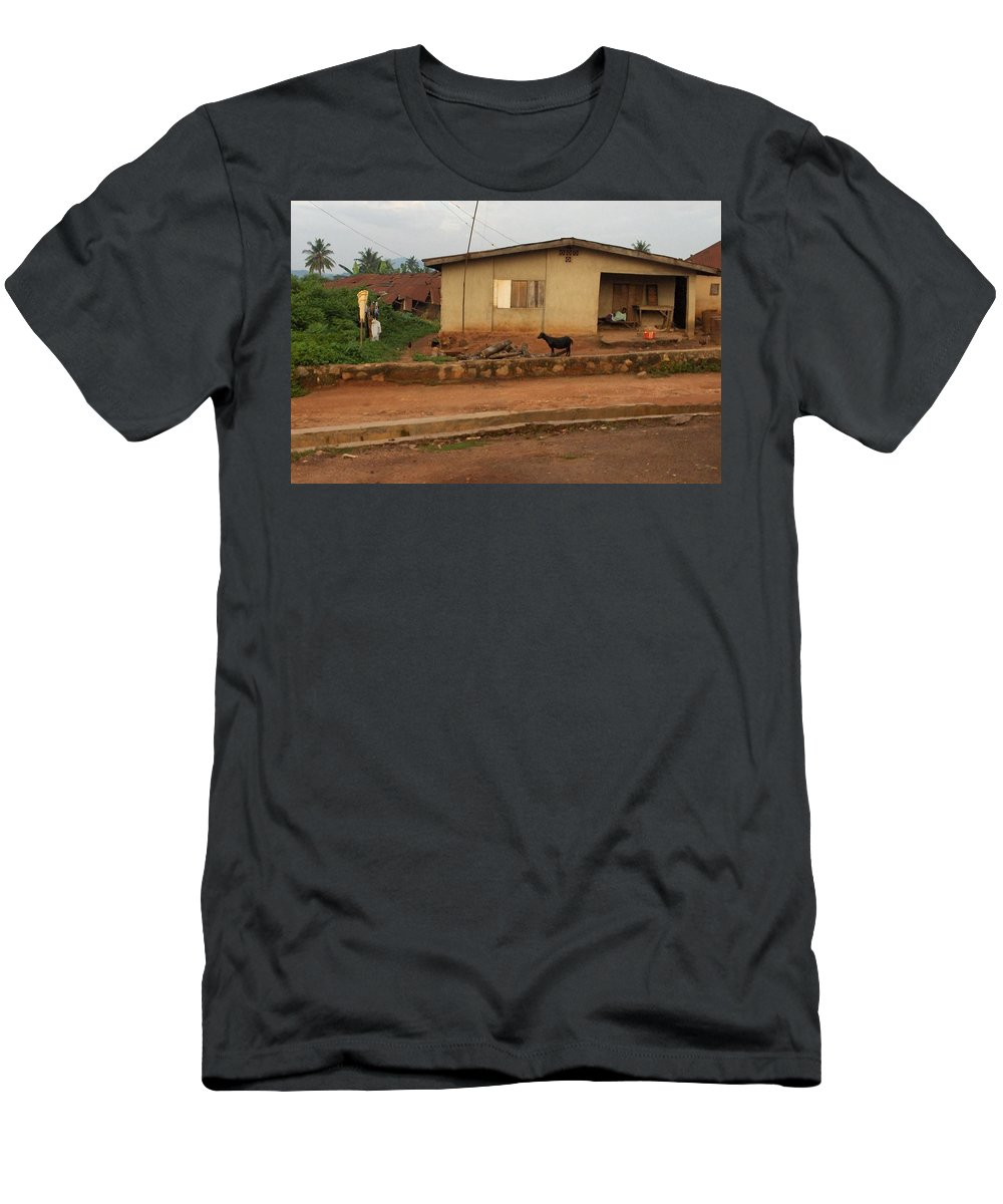 Nigeria Men's T-Shirt (Athletic Fit) featuring the photograph Nigerian House by Amy Hosp