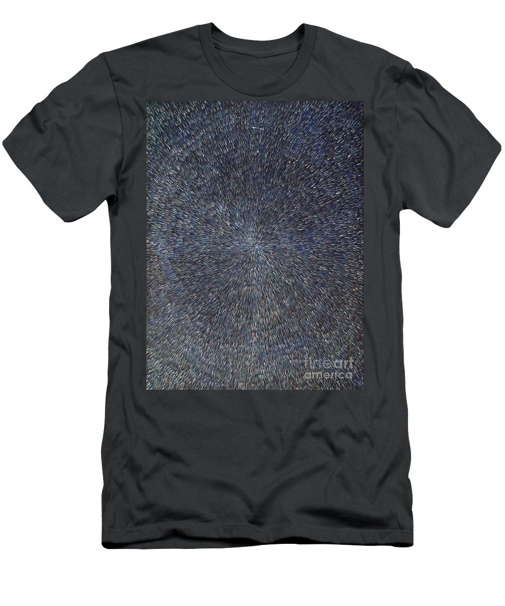 Abstract Men's T-Shirt (Athletic Fit) featuring the painting Night Radiation by Dean Triolo