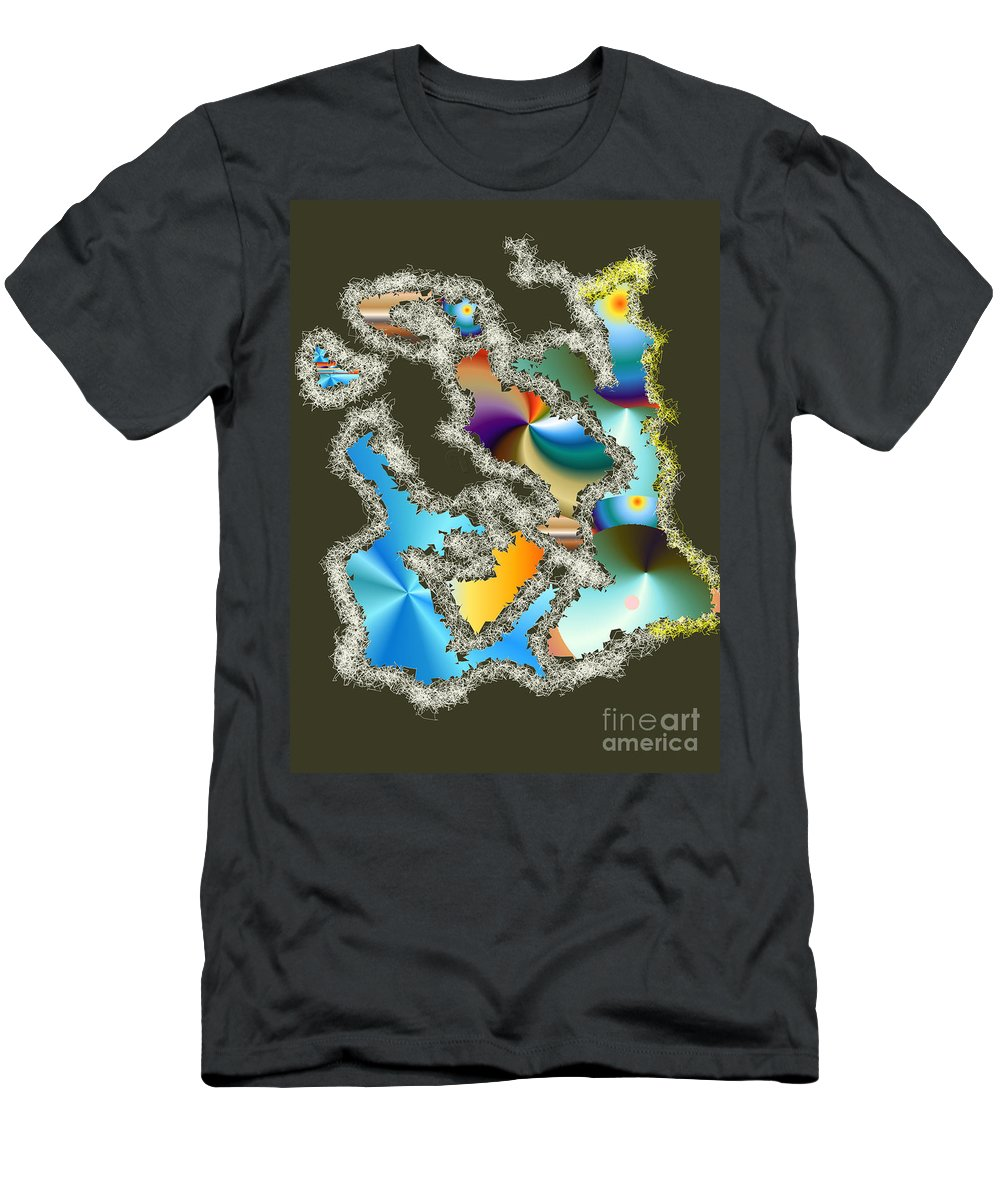 Men's T-Shirt (Athletic Fit) featuring the digital art No. 241 by John Grieder