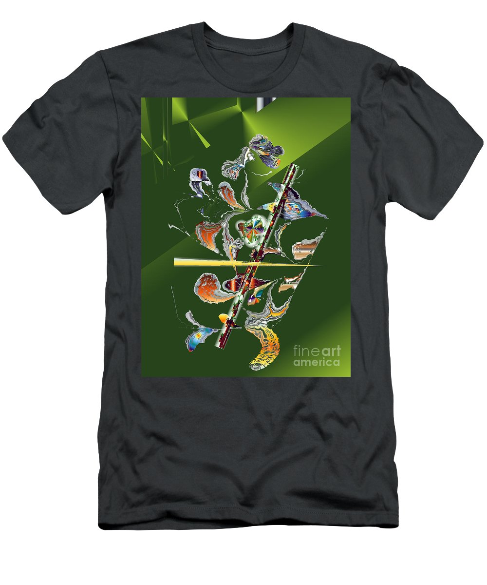 Men's T-Shirt (Athletic Fit) featuring the digital art No. 813 by John Grieder