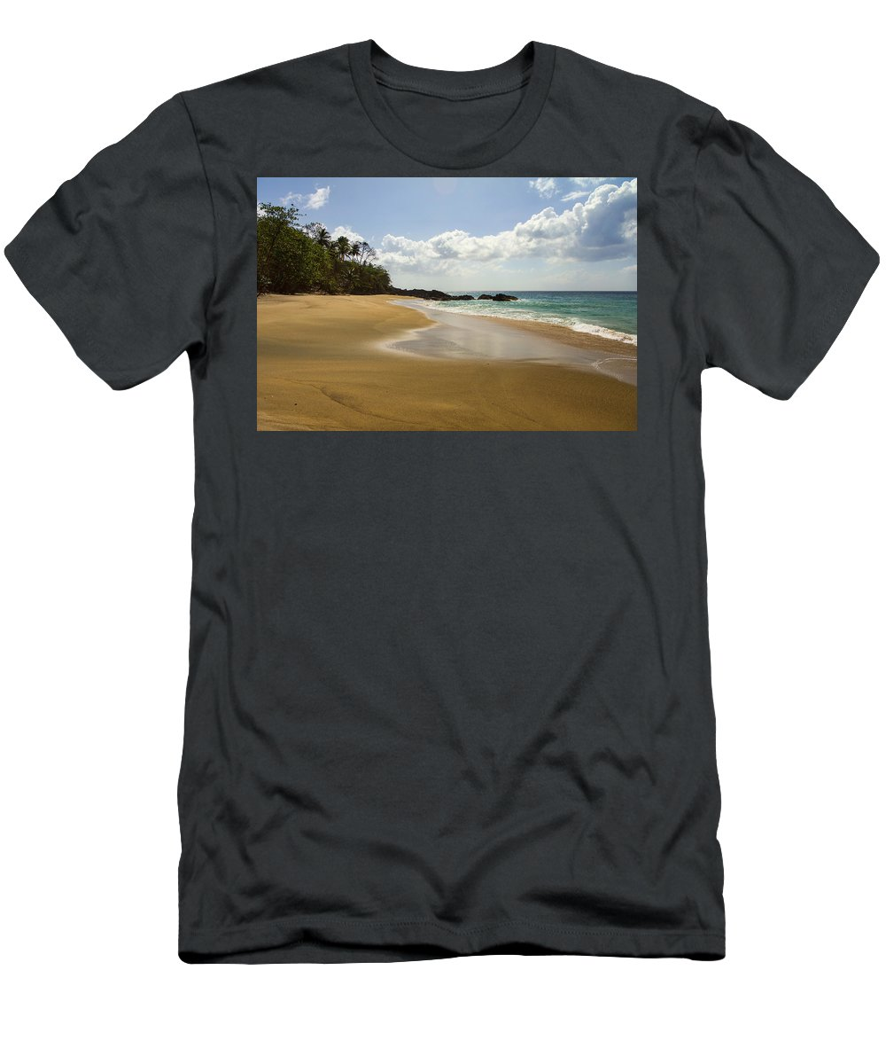 Beach Men's T-Shirt (Athletic Fit) featuring the photograph No Footprints by Hugh Stickney