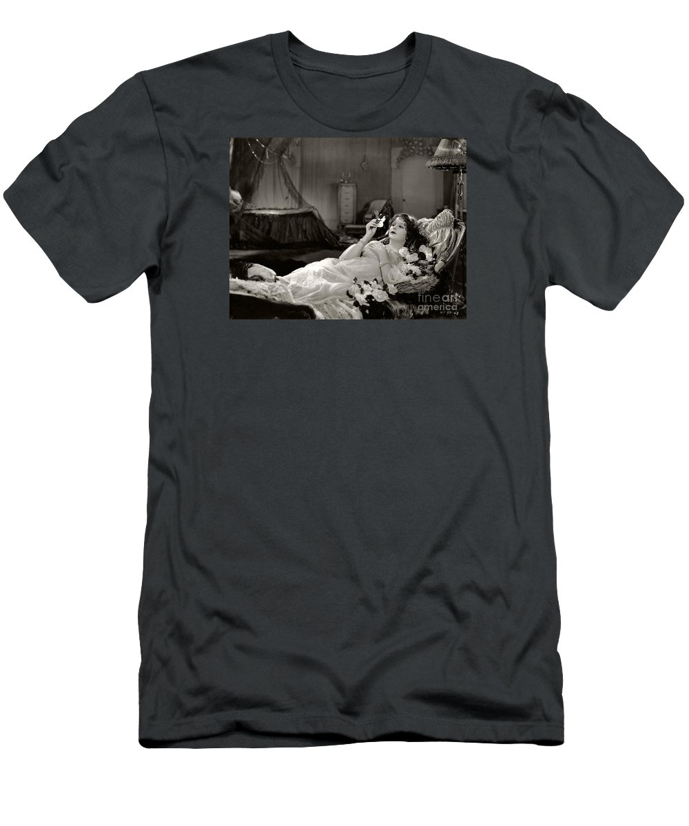 Camille Men's T-Shirt (Athletic Fit) featuring the photograph Norma Talmadge In Camille 1926 by Sad Hill - Bizarre Los Angeles Archive