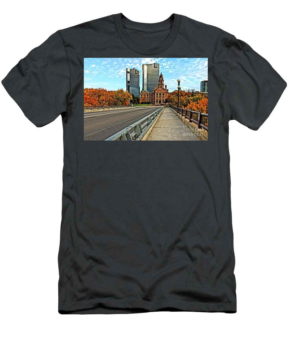Landscape Men's T-Shirt (Athletic Fit) featuring the photograph North Main Street 3 by Earl Johnson