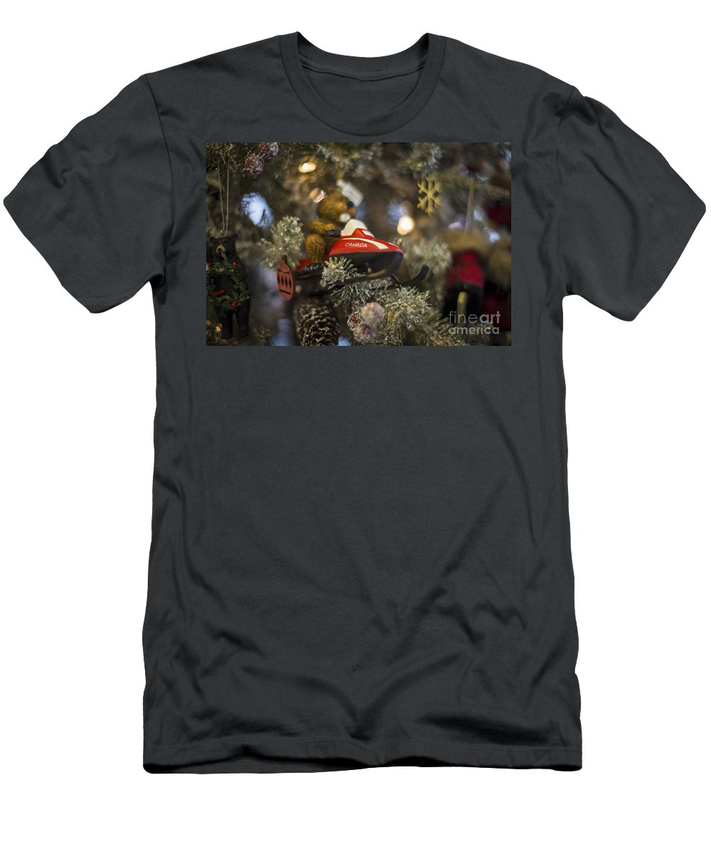 Canada Men's T-Shirt (Athletic Fit) featuring the photograph North Pole Express by Evelina Kremsdorf