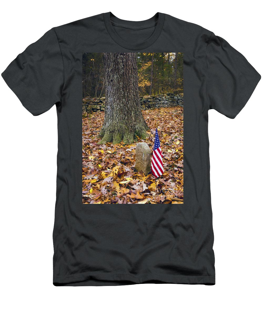 Cemetery Men's T-Shirt (Athletic Fit) featuring the photograph Not Forgotten by Paul W Faust - Impressions of Light