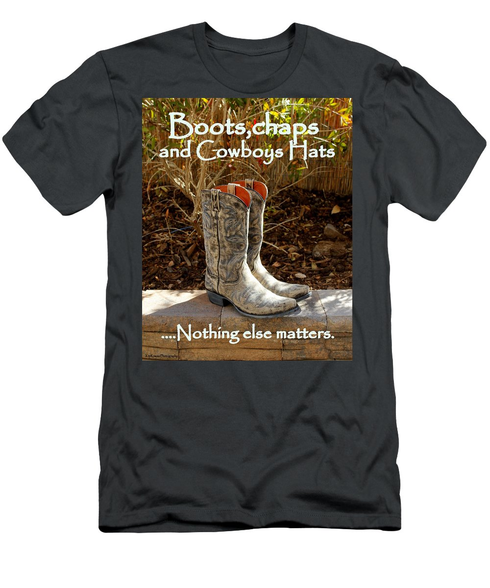 Cowboy Boots Men's T-Shirt (Athletic Fit) featuring the photograph Nothing Else Matters by Kip Krause
