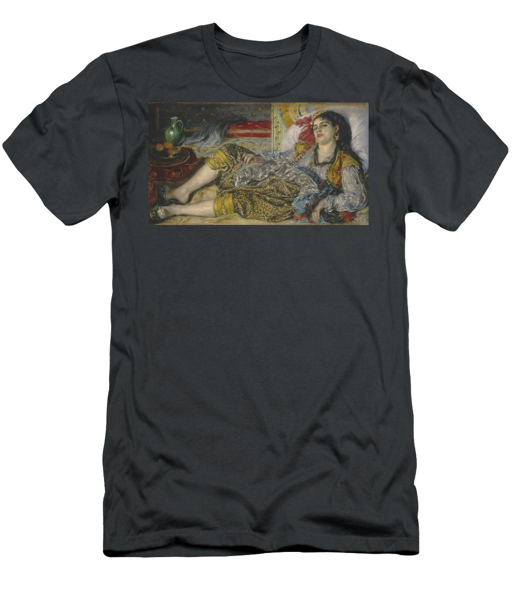 Algerian; Woman; Orientalist; Impressionist; Female; Exotic; North; African; Harem; Concubine; Costume Men's T-Shirt (Athletic Fit) featuring the painting Odalisque by Pierre Auguste Renoir