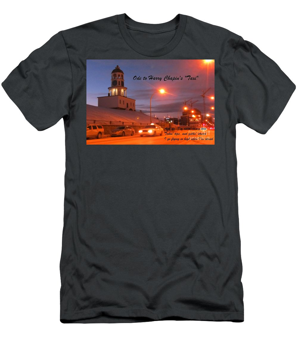 Ode To Harry Chapins Taxi Men's T-Shirt (Athletic Fit) featuring the photograph Ode To Harry Chapins Taxi by John Malone