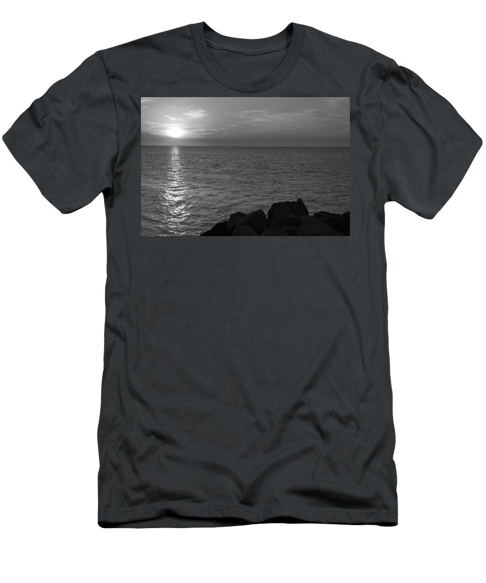 Ronald Chacon Men's T-Shirt (Athletic Fit) featuring the photograph Off The Rocks by Ronald Chacon