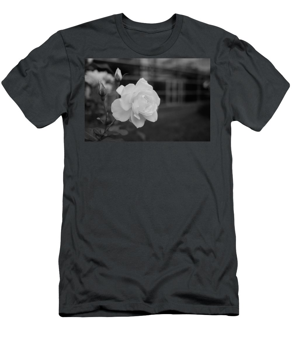 Miguel Men's T-Shirt (Athletic Fit) featuring the photograph Office Roses by Miguel Winterpacht