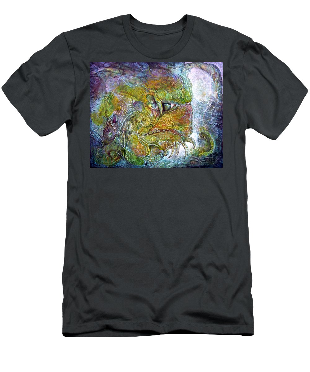 Tiamat Men's T-Shirt (Athletic Fit) featuring the painting Offspring Of Tiamat - The Fomorii Union by Otto Rapp
