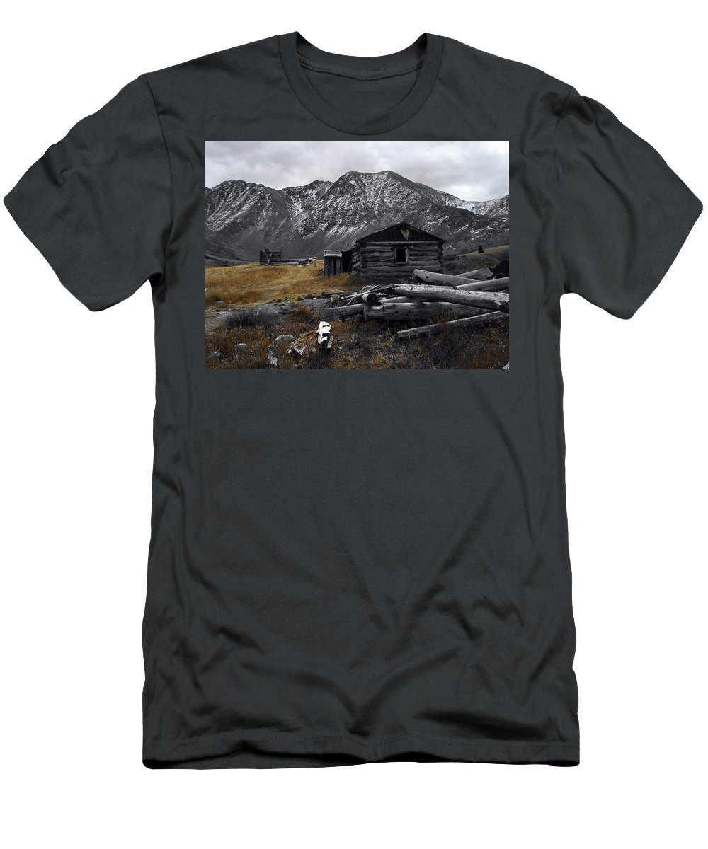 Mountain Men's T-Shirt (Athletic Fit) featuring the photograph Old Boston Mine by Brian Kerls
