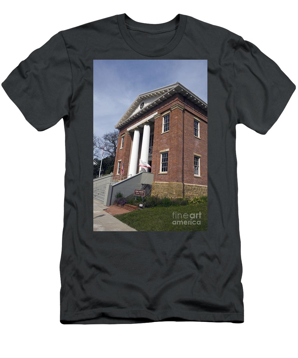 Travel Men's T-Shirt (Athletic Fit) featuring the photograph Old California State Capitol Building Benicia by Jason O Watson