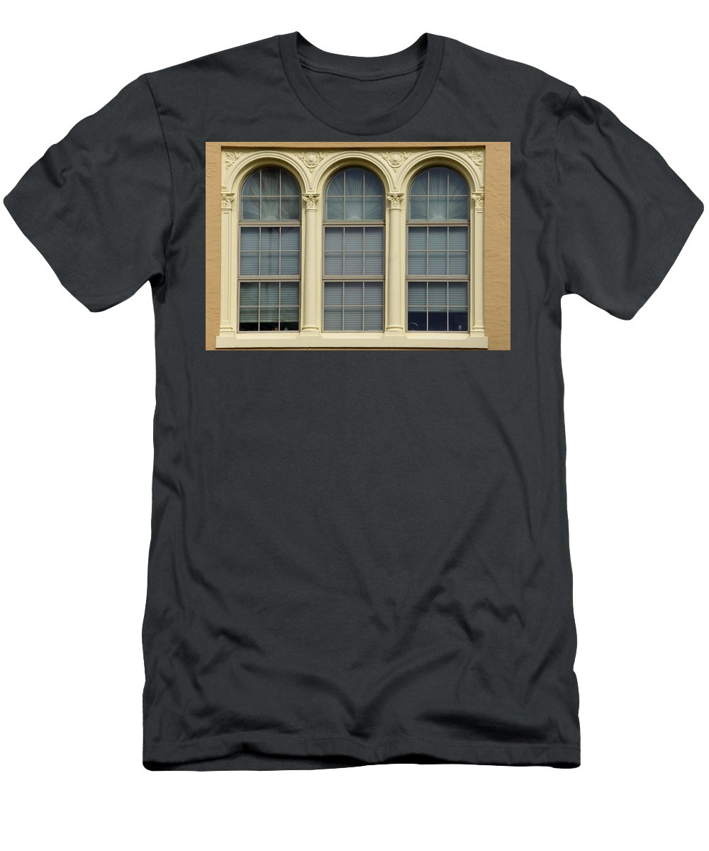 Window Men's T-Shirt (Athletic Fit) featuring the photograph Old Chamber by Laurie Perry