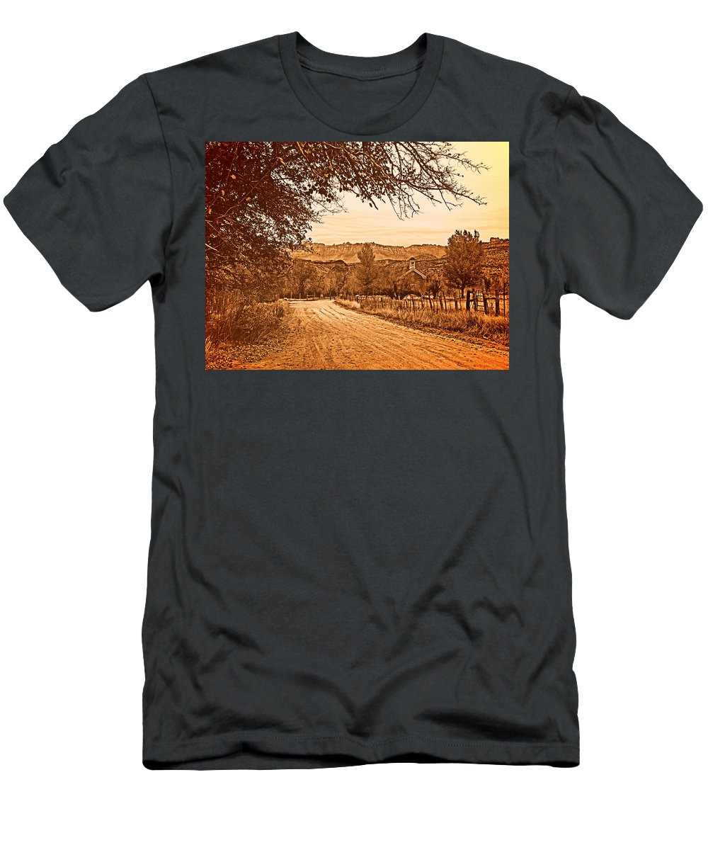 Aged Men's T-Shirt (Athletic Fit) featuring the photograph Old Church by Leland D Howard