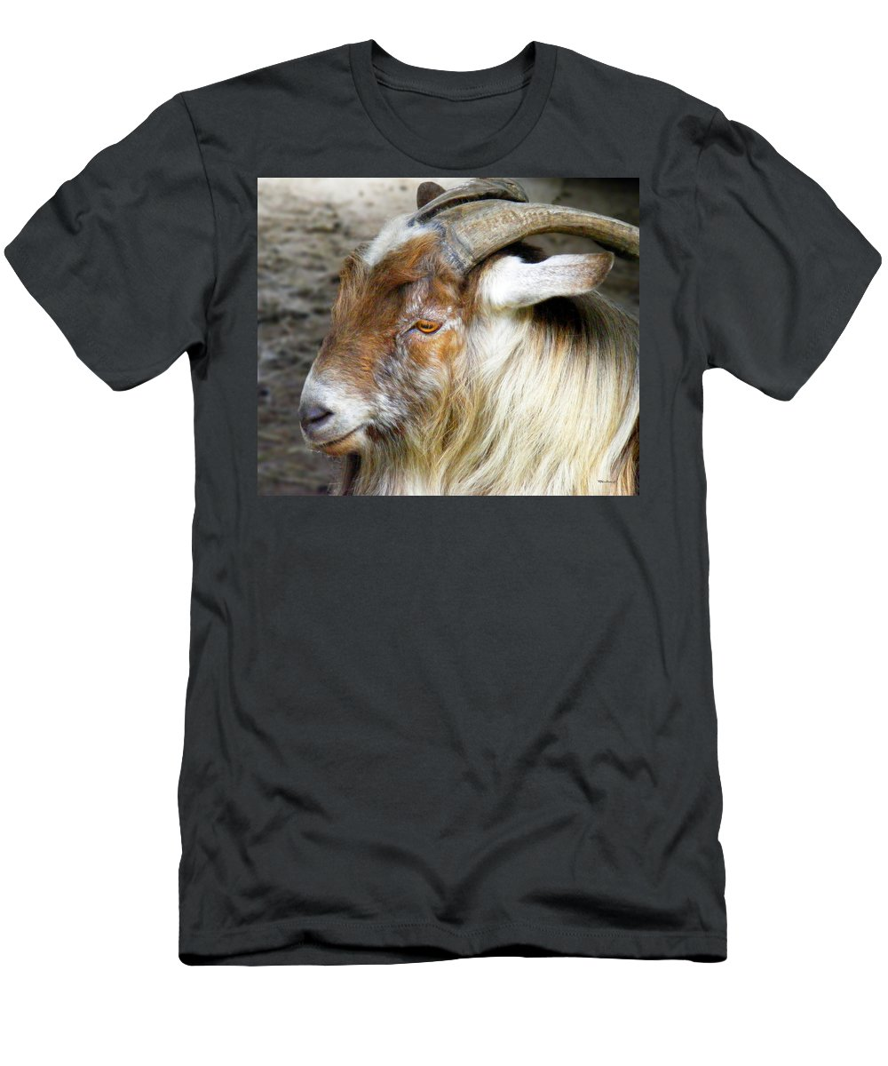 Duane Mccullough Men's T-Shirt (Athletic Fit) featuring the photograph Old Goat by Duane McCullough