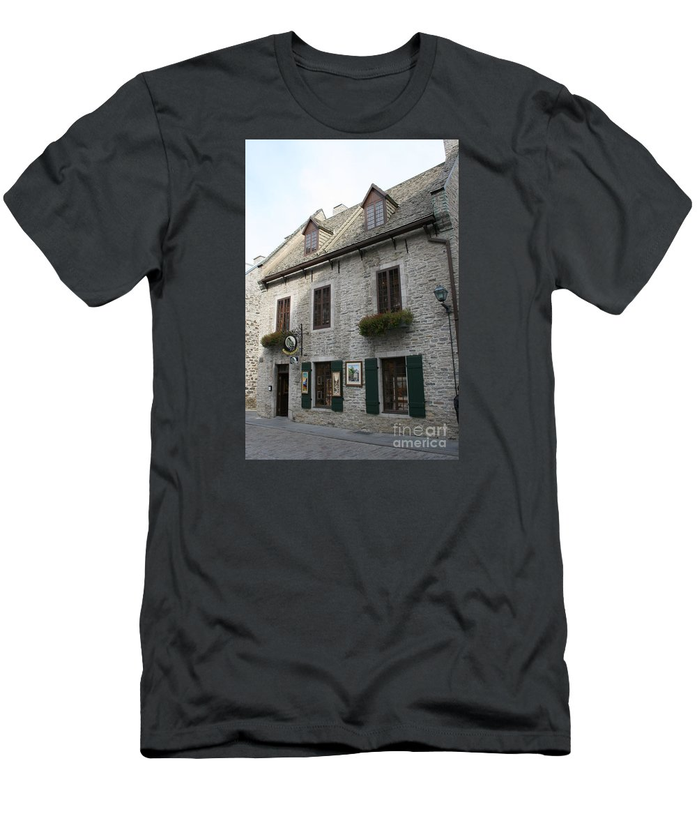 Old Town Men's T-Shirt (Athletic Fit) featuring the photograph Old Town Quebec Canada by Christiane Schulze Art And Photography