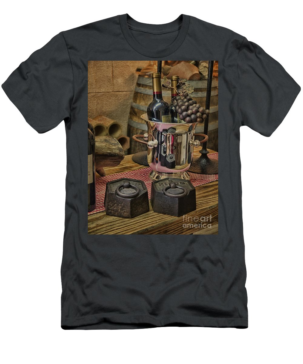 Palma Men's T-Shirt (Athletic Fit) featuring the photograph Old Wine by Gillian Singleton
