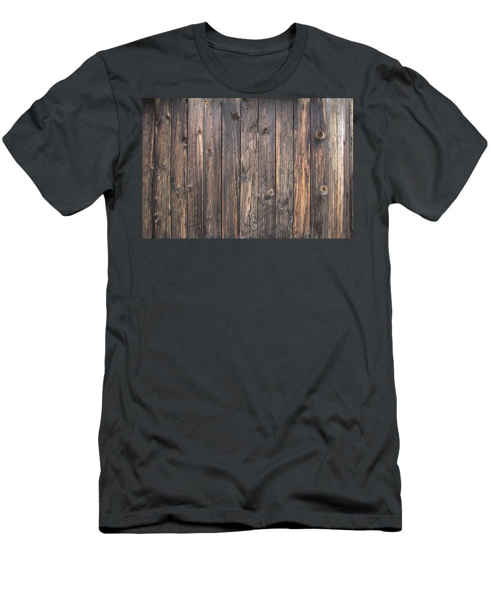 Old Men's T-Shirt (Athletic Fit) featuring the photograph Old Wood Shack Exterior Background by Jit Lim