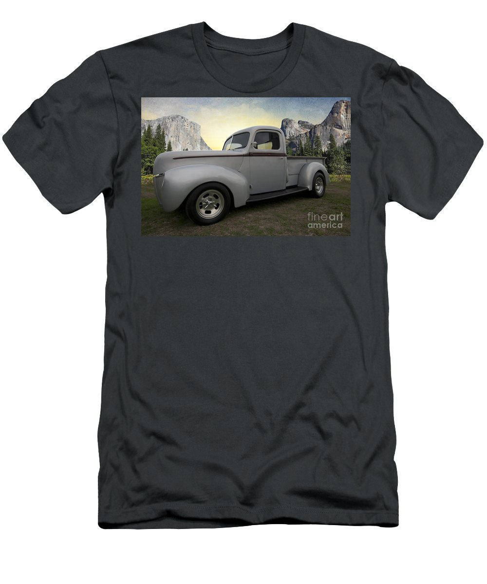 Older Classic Truck Men's T-Shirt (Athletic Fit) featuring the photograph Older Classic Truck by Liane Wright