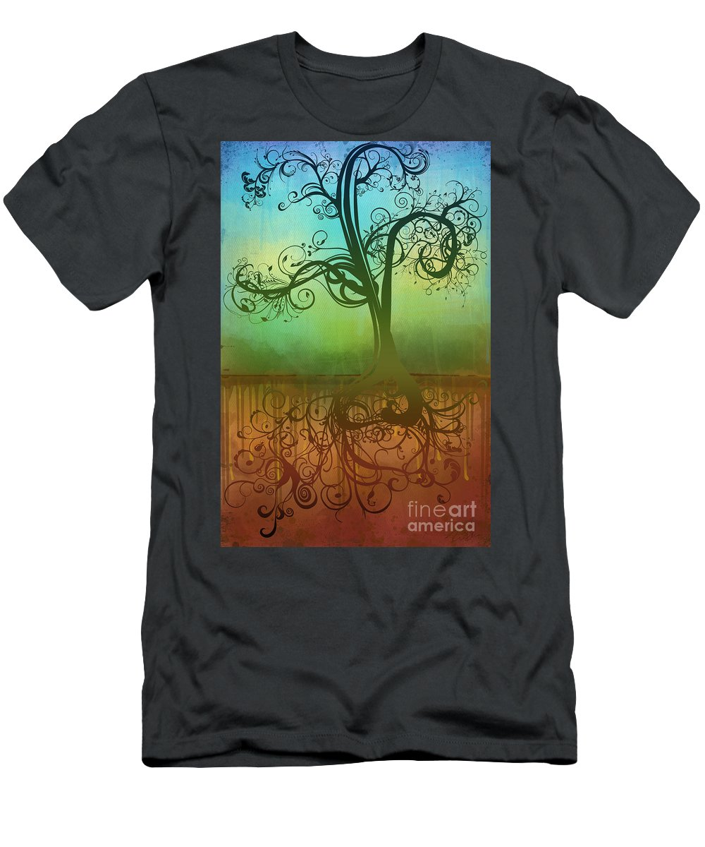 Tree Men's T-Shirt (Athletic Fit) featuring the digital art Omid by Ryan Burton