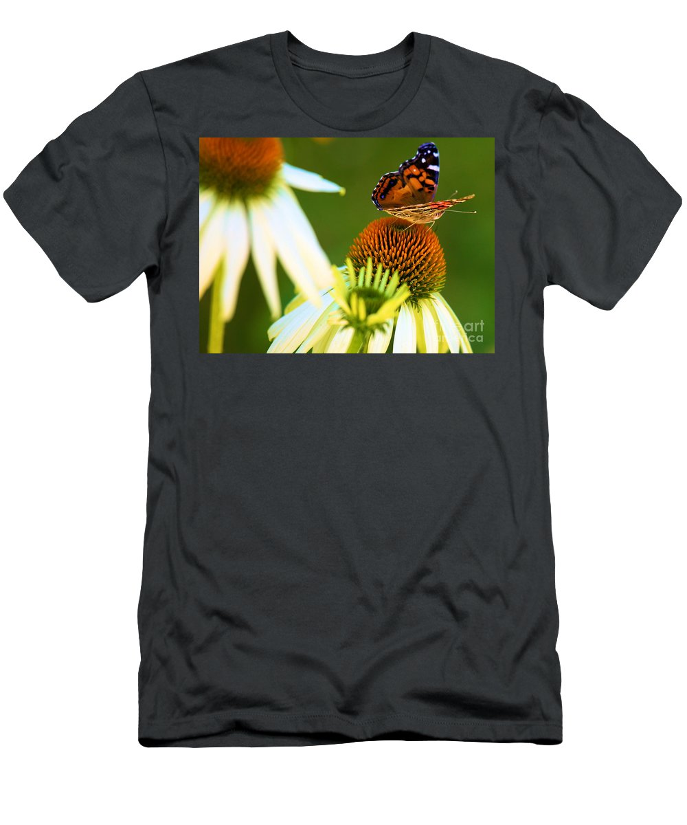 Butterfly Men's T-Shirt (Athletic Fit) featuring the photograph On The Edge Of Glory by Adam Jewell