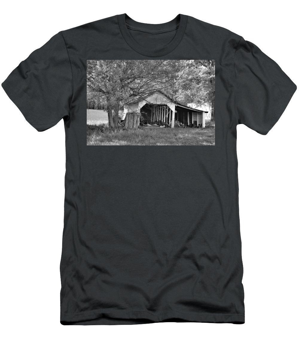 Farm Men's T-Shirt (Athletic Fit) featuring the photograph On The Farm by Tara Potts