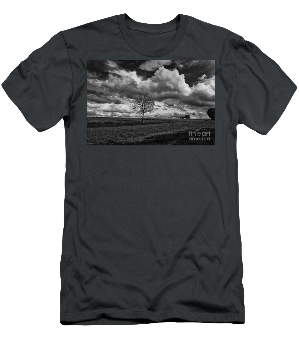 Movings Clouds Men's T-Shirt (Athletic Fit) featuring the photograph On The Plateau by Brothers Beerens