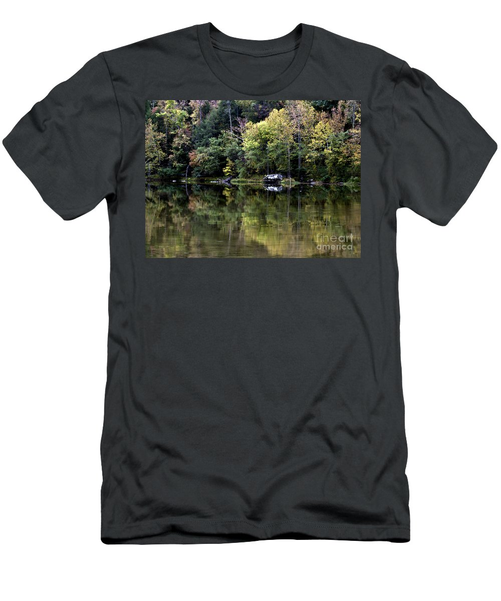 Rural Men's T-Shirt (Athletic Fit) featuring the photograph On The River Four by Ken Frischkorn