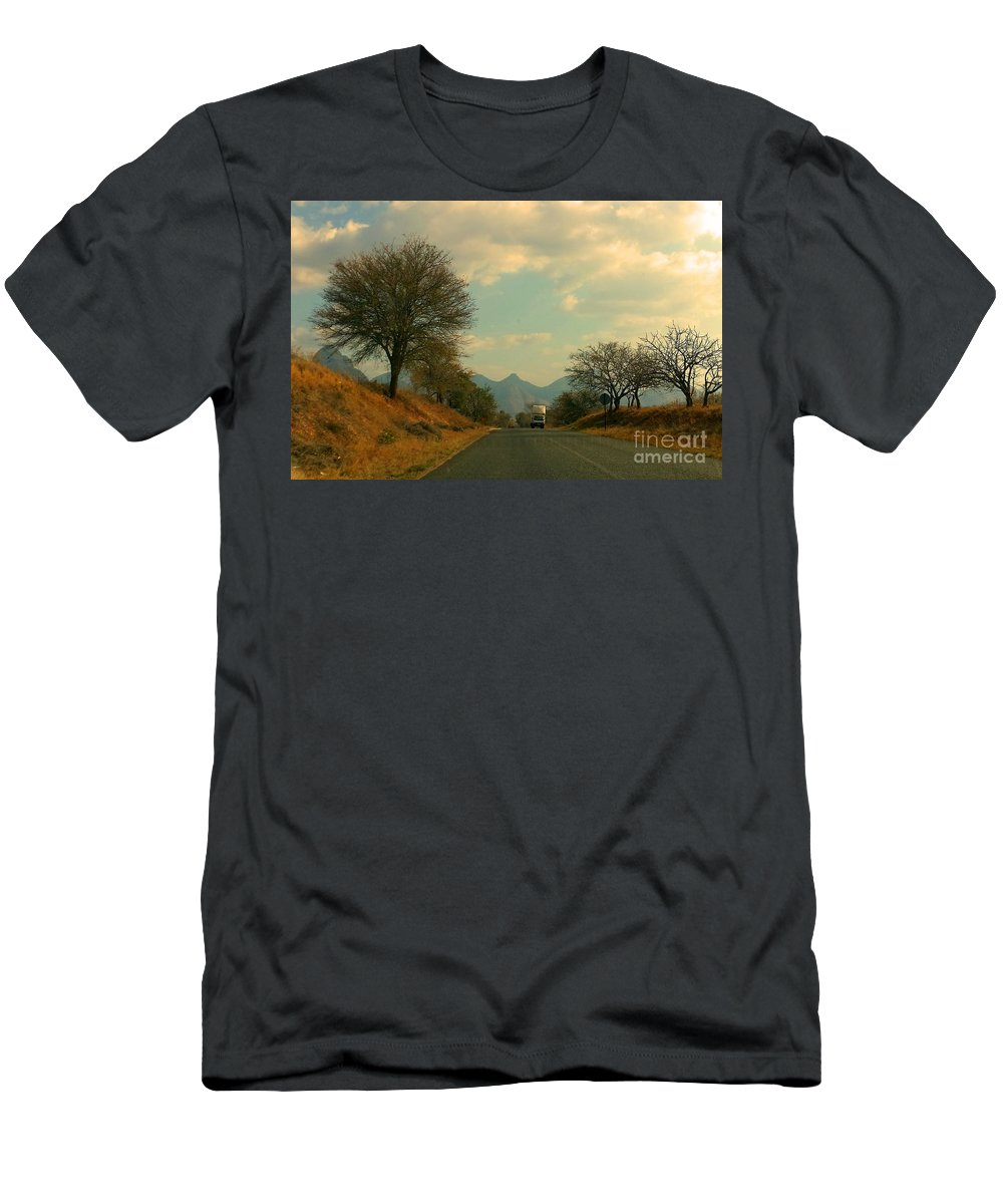 Truck Men's T-Shirt (Athletic Fit) featuring the photograph Oncoming Truck by Lisa Byrne