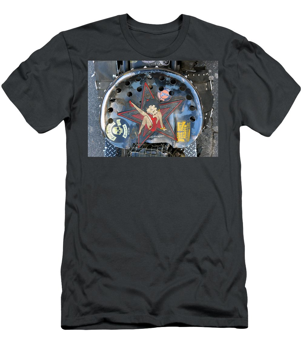 Motorcycle Seat Men's T-Shirt (Athletic Fit) featuring the photograph One Tough Ride by David Lee Thompson