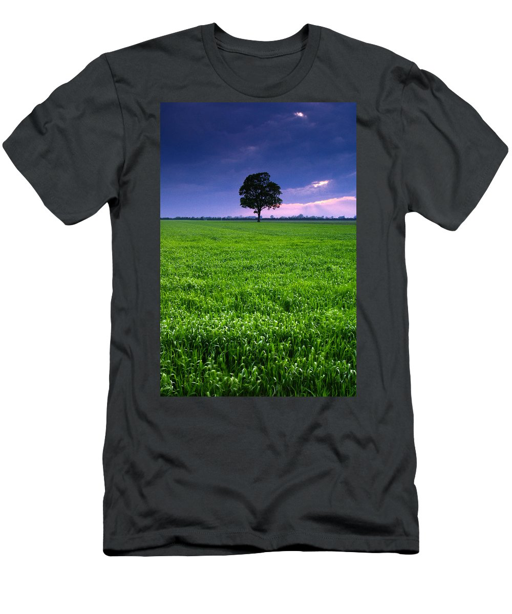 Landscape Men's T-Shirt (Athletic Fit) featuring the photograph One Tree by Cale Best