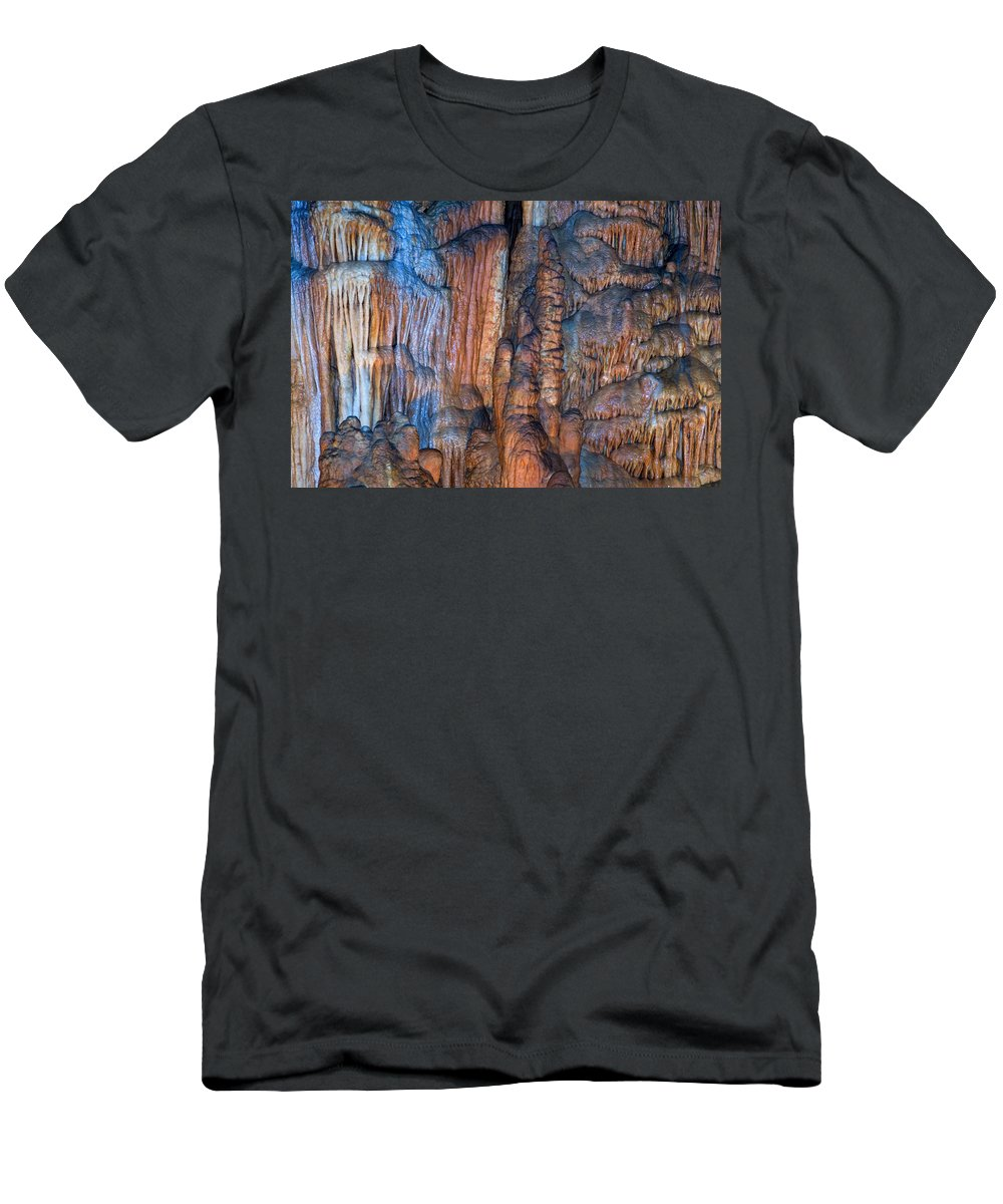 Cave Men's T-Shirt (Athletic Fit) featuring the photograph Onondaga Cave Detail Img 4270 by Greg Kluempers