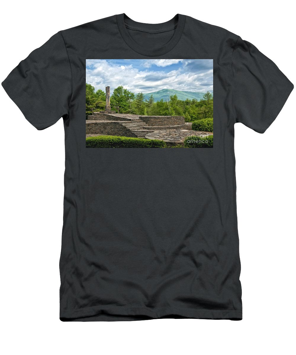 Opus 40 Men's T-Shirt (Athletic Fit) featuring the photograph Opus 40 by Claudia Kuhn