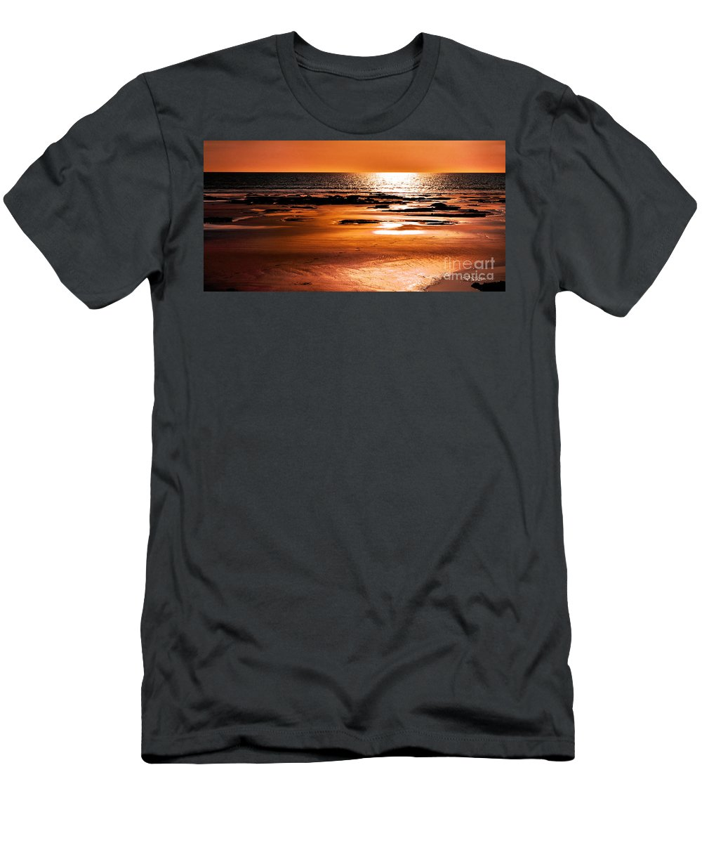 Landscape Men's T-Shirt (Athletic Fit) featuring the photograph Orange Evening by Phill Petrovic