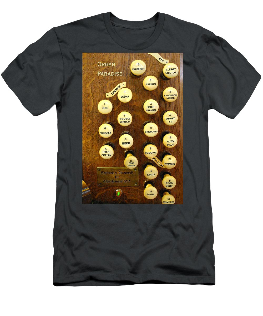 Pipe Organ Men's T-Shirt (Athletic Fit) featuring the photograph Organ Paradise by Jenny Setchell