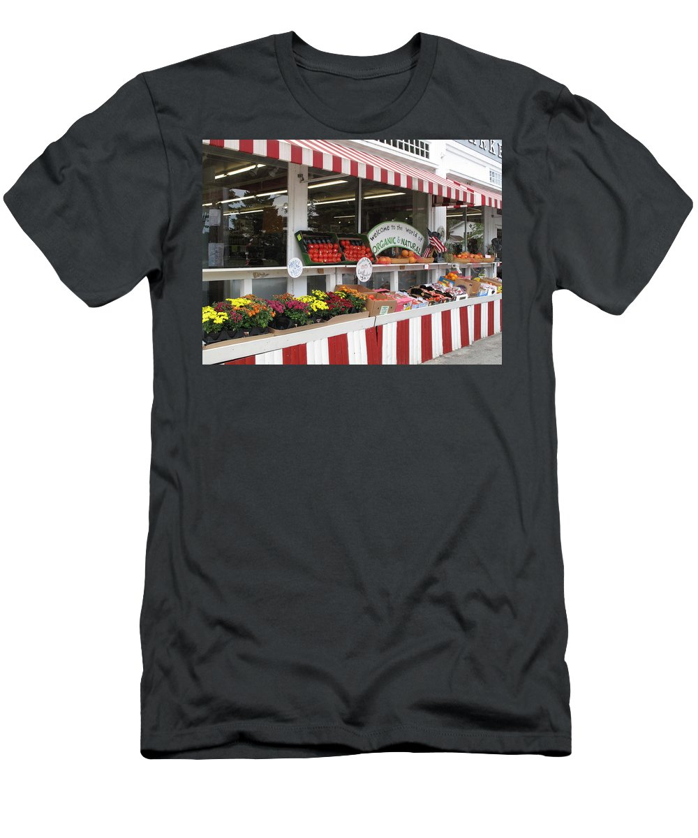 Produce Men's T-Shirt (Athletic Fit) featuring the photograph Organic And Natural by Barbara McDevitt
