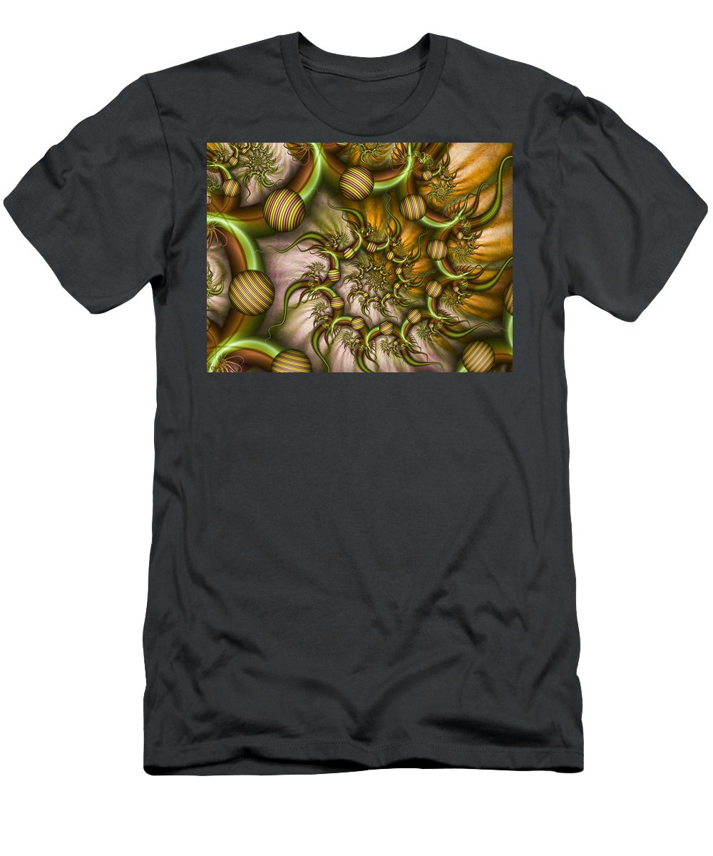 Abstract Men's T-Shirt (Athletic Fit) featuring the digital art Organic Playground by Gabiw Art