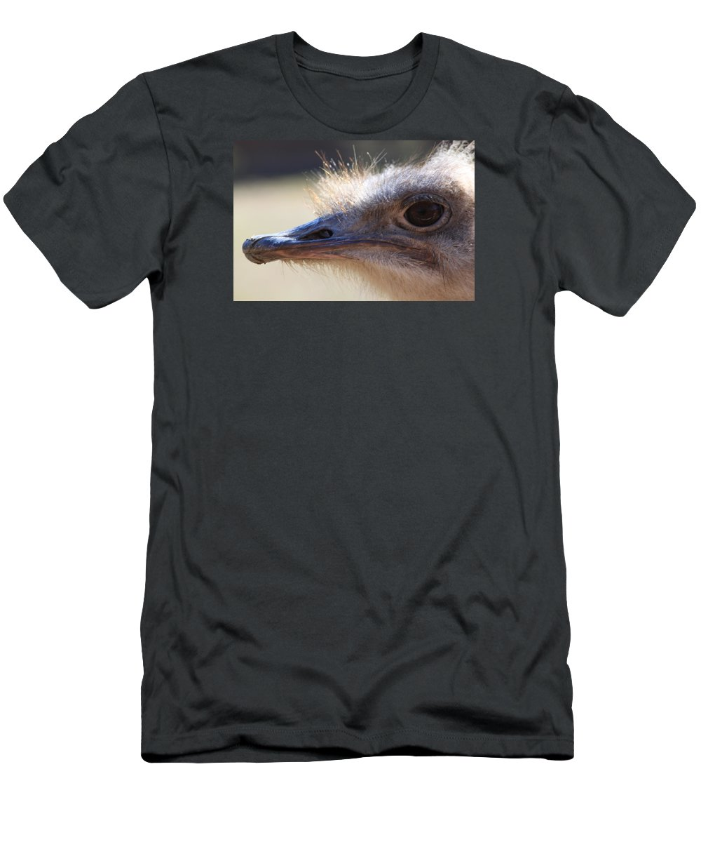 Ostrich Men's T-Shirt (Athletic Fit) featuring the photograph Ostrich by Moira Pfeiffer