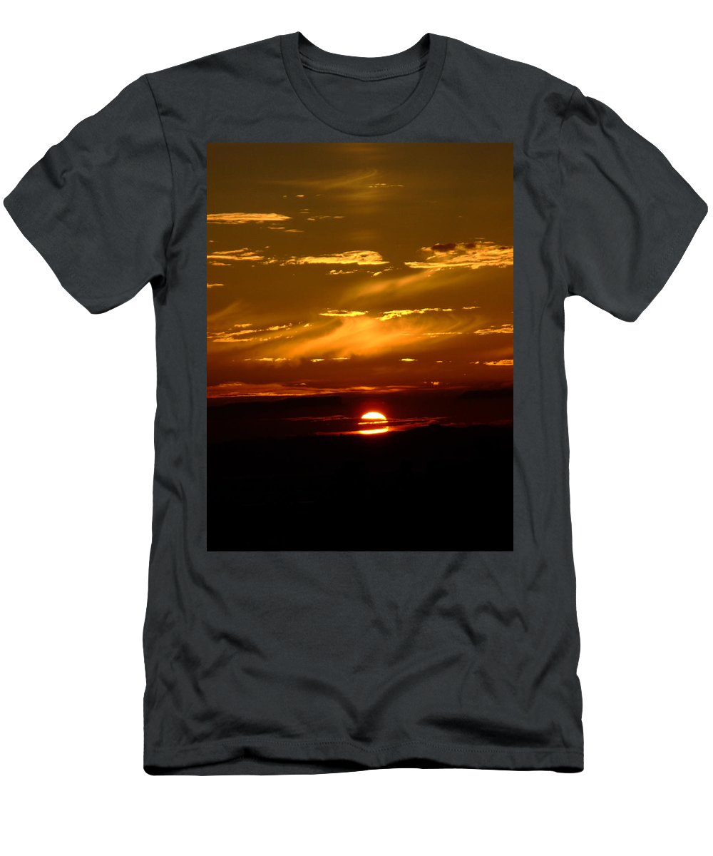 Sunset Men's T-Shirt (Athletic Fit) featuring the photograph Out Of The Earth's Core by Donna Blackhall