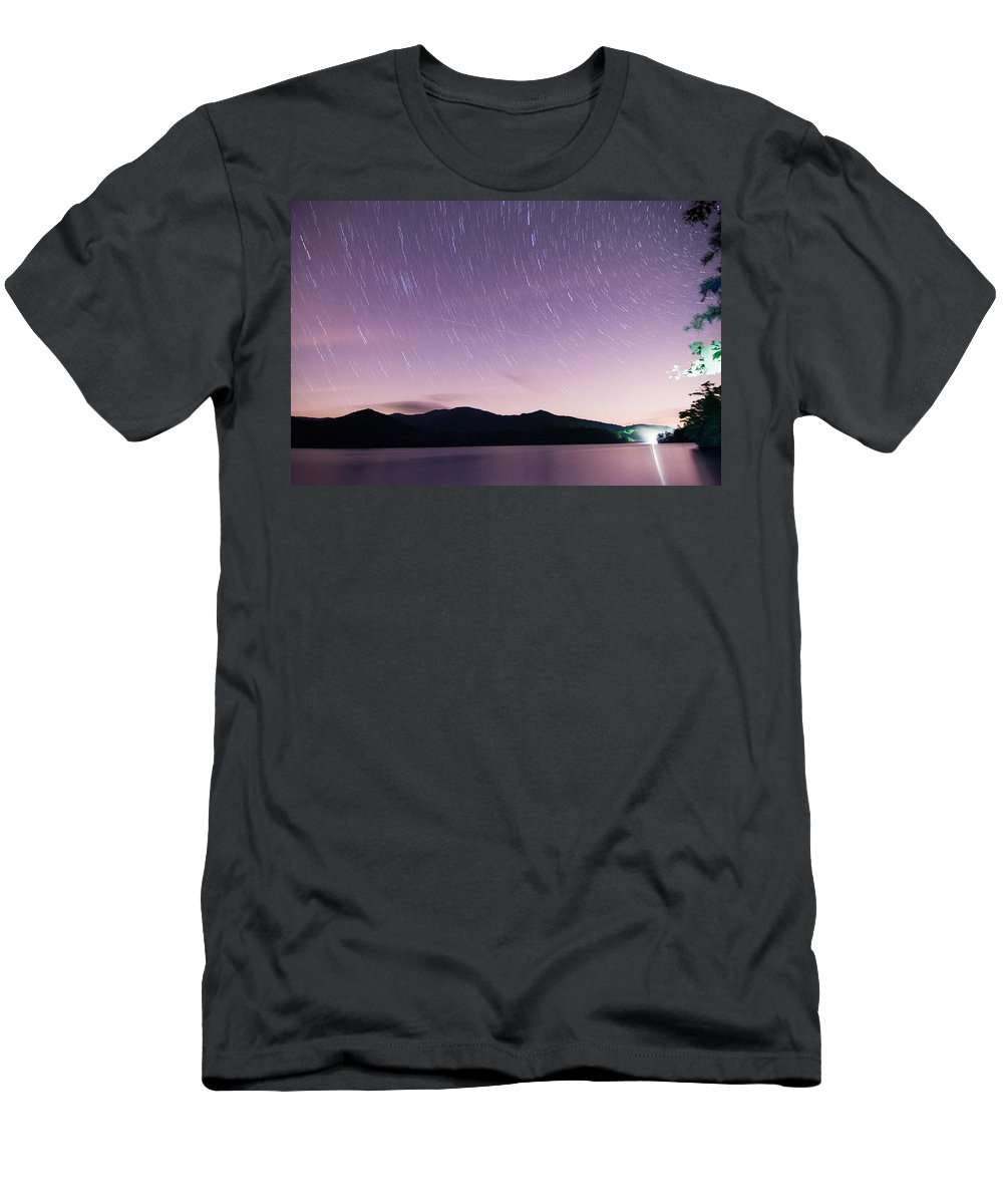 Beautiful Men's T-Shirt (Athletic Fit) featuring the photograph Outer Space Over Lake Santeetlah In Great Smoky Mountains In Sum by Alex Grichenko